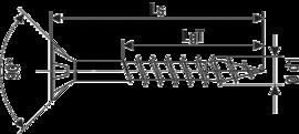 SPAX А2 потай неполная резьба Pz