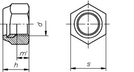 DIN 985 Kl. 10  мелкая резьба
