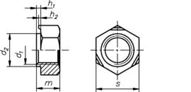 DIN 929 нержавеющая сталь А2