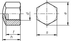 DIN 917 нержавеющая сталь А2