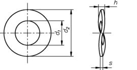 DIN 137 В нержавеющая сталь А2