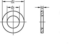 DIN 433 нержавеющая сталь А2