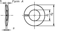 DIN 128 А нержавеющая сталь А2