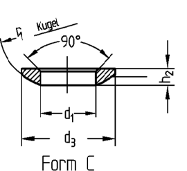 DIN 6319 Form C